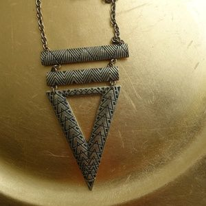 Long Chain Necklace with Triangle Detail